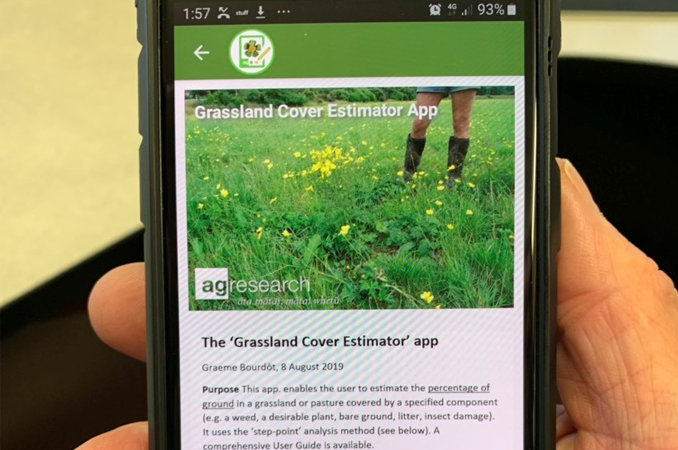 New app to help farmers manage weeds